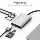 베이식스 TW6A TypeC to 6in1 멀티허브 HDMI USB 덱스