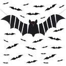 대형 박쥐 가랜드 3D 박쥐 데코 세트 28입 스티커